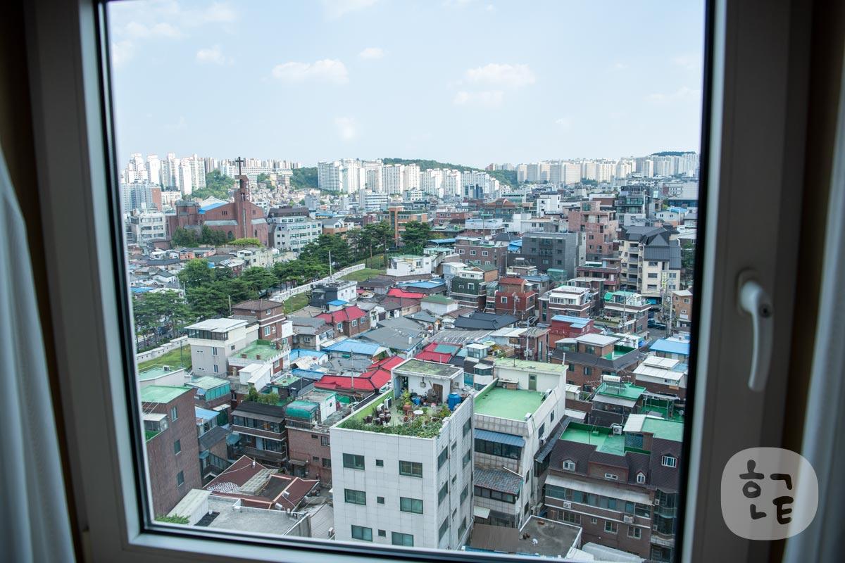 10階の部屋からの景色