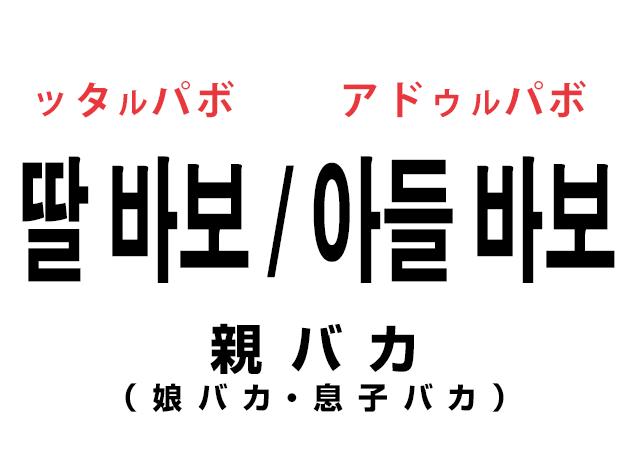 親バカは韓国語で「娘バカ・息子バカ」って言うの?!理由は??